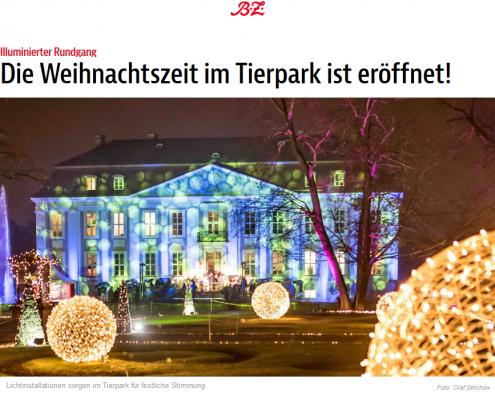 BZ: Weihnachtszeit im Tierpark ist eröffnet!