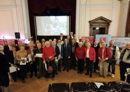 Gruppenfoto der Ehrungen für 30 Jahre Mitgliedschaft in der SPD am 17.01.2020. (c) Kevin Einenkel